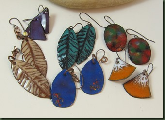 enameling new earrings